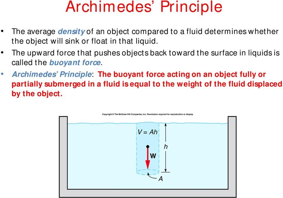 The upward force that pushes objects back toward the surface in liquids is called the buoyant force.