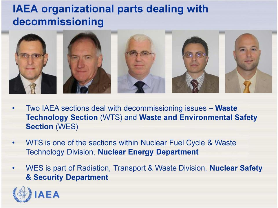 one of the sections within Nuclear Fuel Cycle & Waste Technology Division, Nuclear Energy