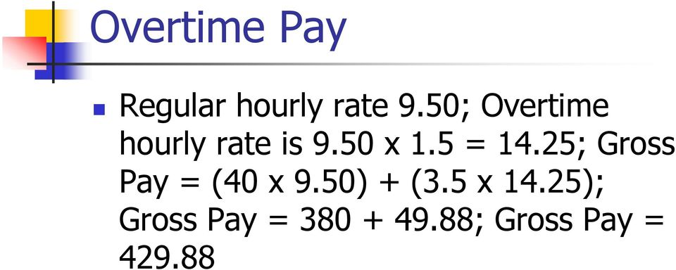 Calculating Gross Pay - PDF