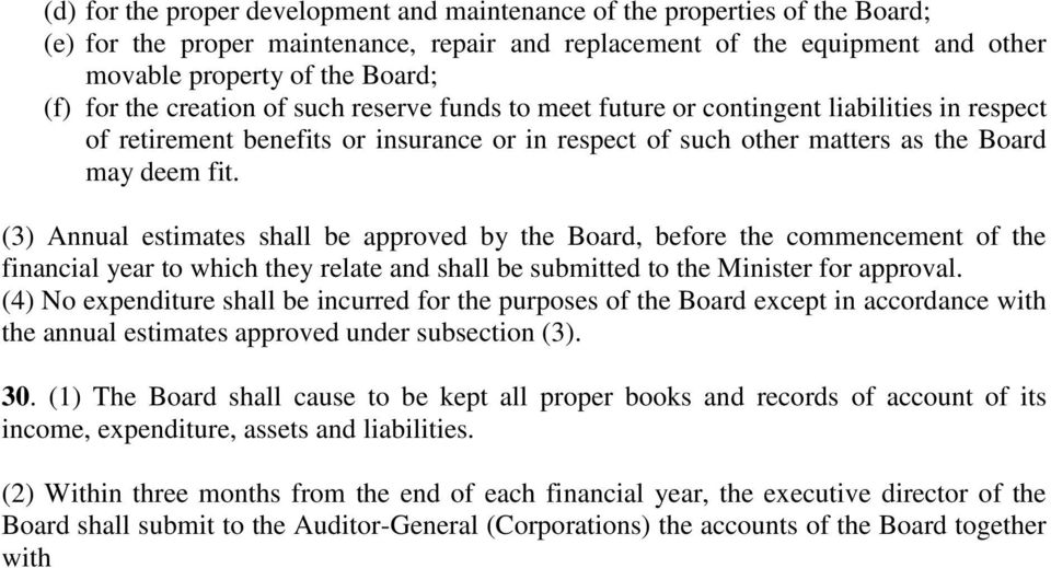 (3) Annual estimates shall be approved by the Board, before the commencement of the financial year to which they relate and shall be submitted to the Minister for approval.