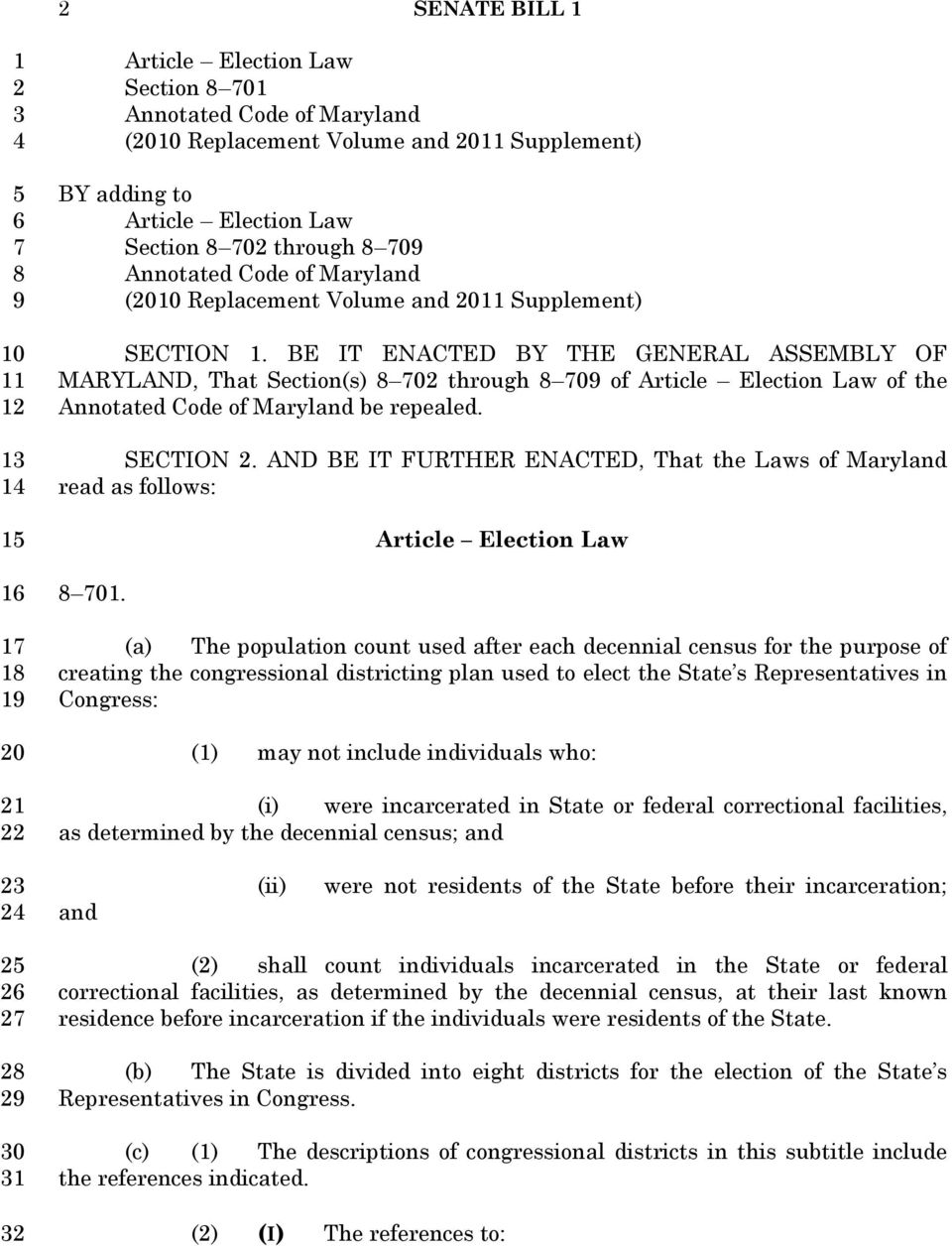SECTION. AND BE IT FURTHER ENACTED, That the Laws of Maryland read as follows: Article Election Law 0.