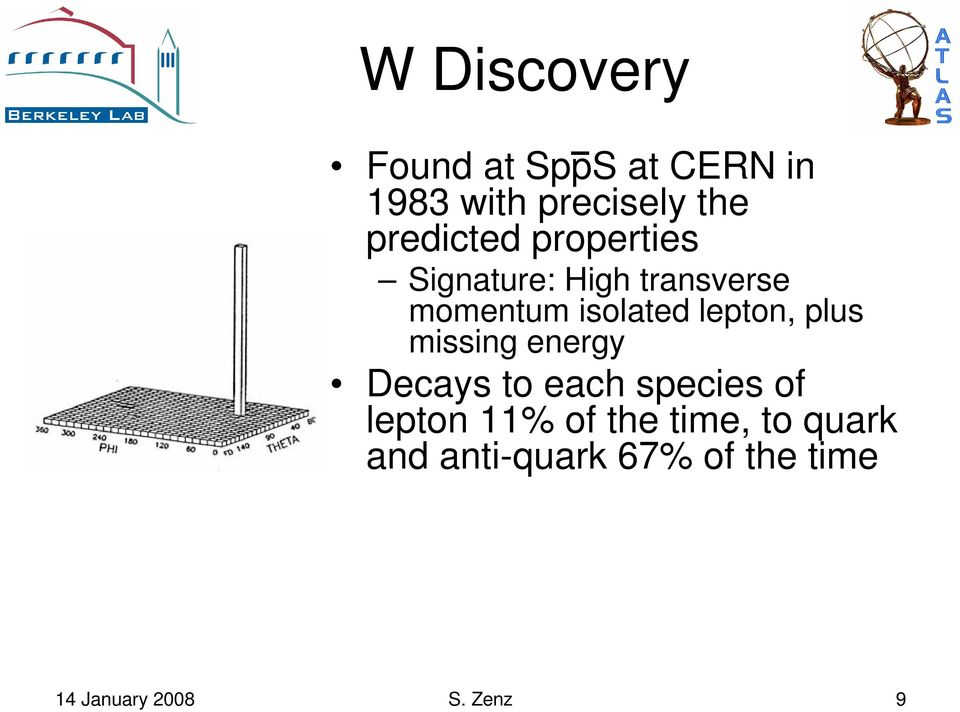 lepton, plus missing energy Decays to each species of lepton 11%