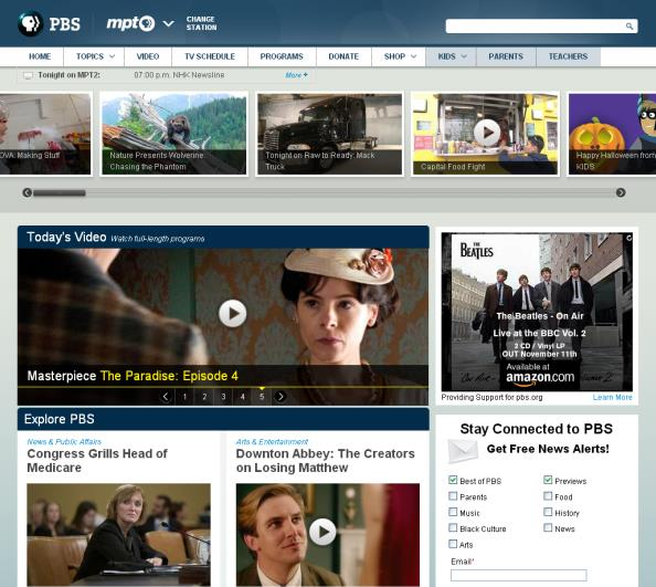 Part of the PBS Family of Sites Encouraging Exploration Online The #1 site for