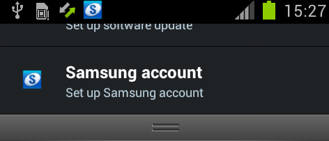 Samsung Account Samsung Account Icon now added in notification panel* Samsung Account A Samsung account is used for identify the user with regard to Samsung services such as Samsung Dive Note: A