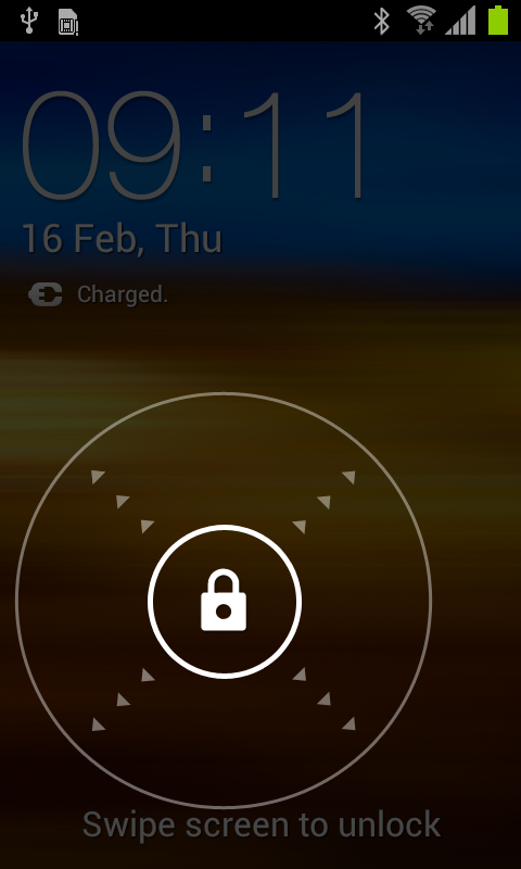 General Slide Lock To unlock slide lock, touch and