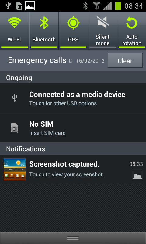 Tips Screen Capture Key combination for perform screen capture now changed Gingerbread (v2. 3.