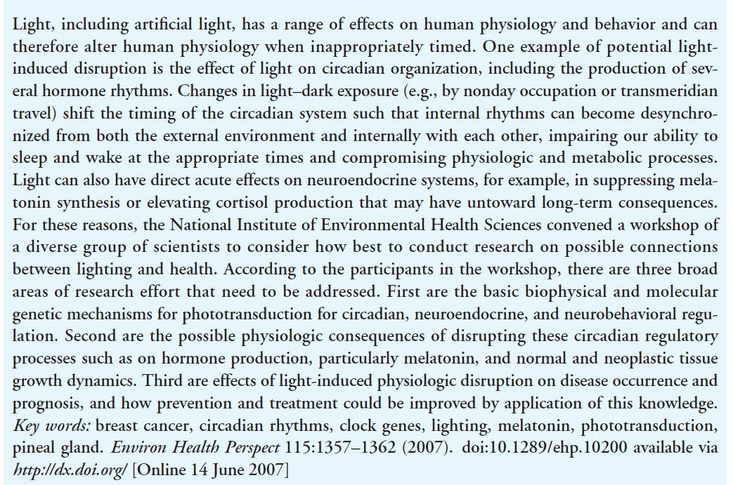 The Role of Environmental Lighting and