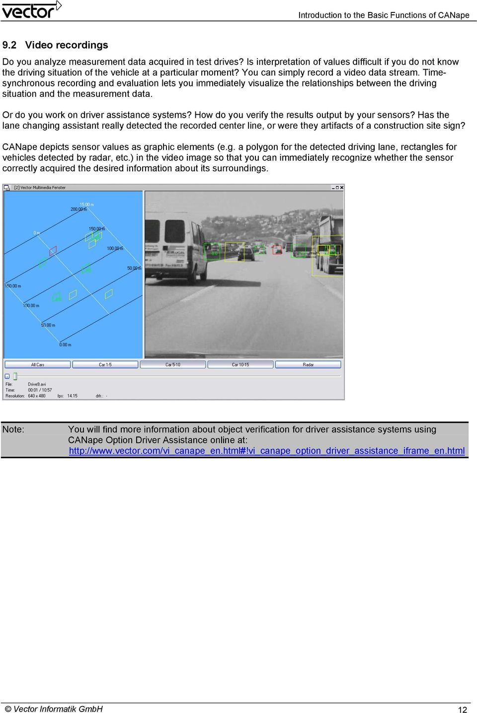 Or do you work on driver assistance systems? How do you verify the results output by your sensors?