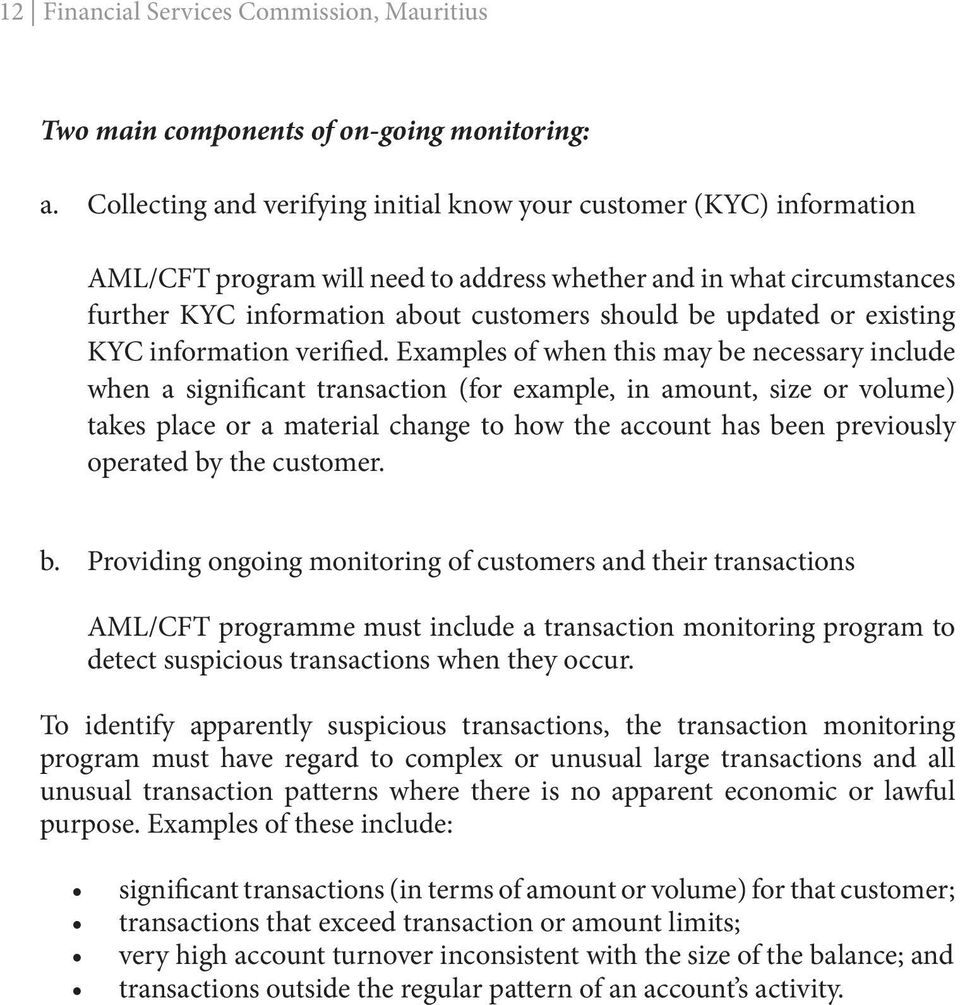 or existing KYC information verified.