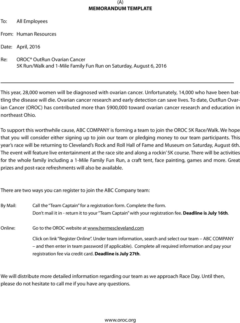 To date, OutRun Ovarian Cancer (OROC) has contributed more than $900,000 toward ovarian cancer research and education in northeast Ohio.