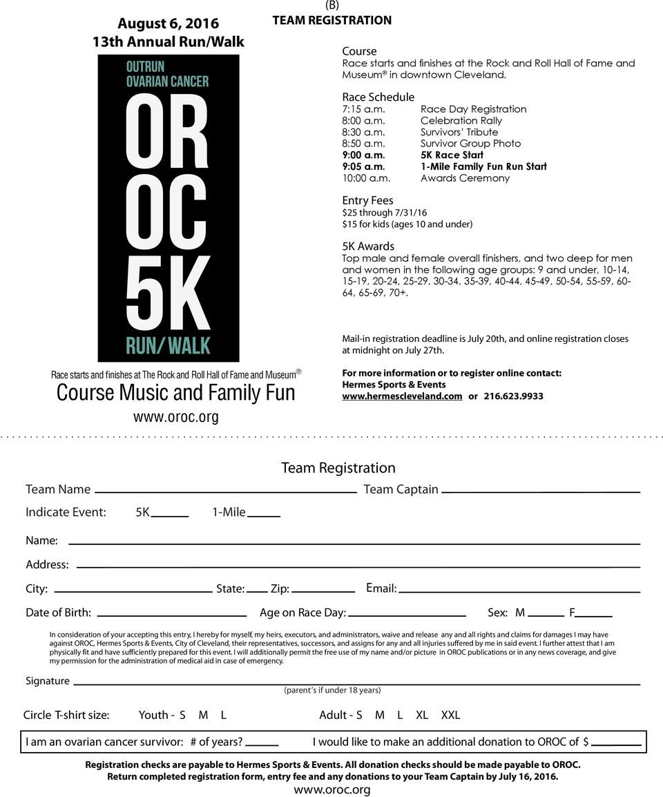 $15 for kids (ages 10 and under) 5K Awards Top male and female overall finishers, and two deep for men and women in the following age groups: 9 and under, 10-14, 15-19, 20-24, 25-29, 30-34, 35-39,