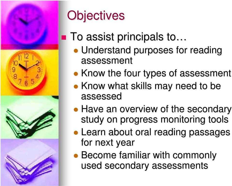 an overview of the secondary study on progress monitoring tools Learn about oral