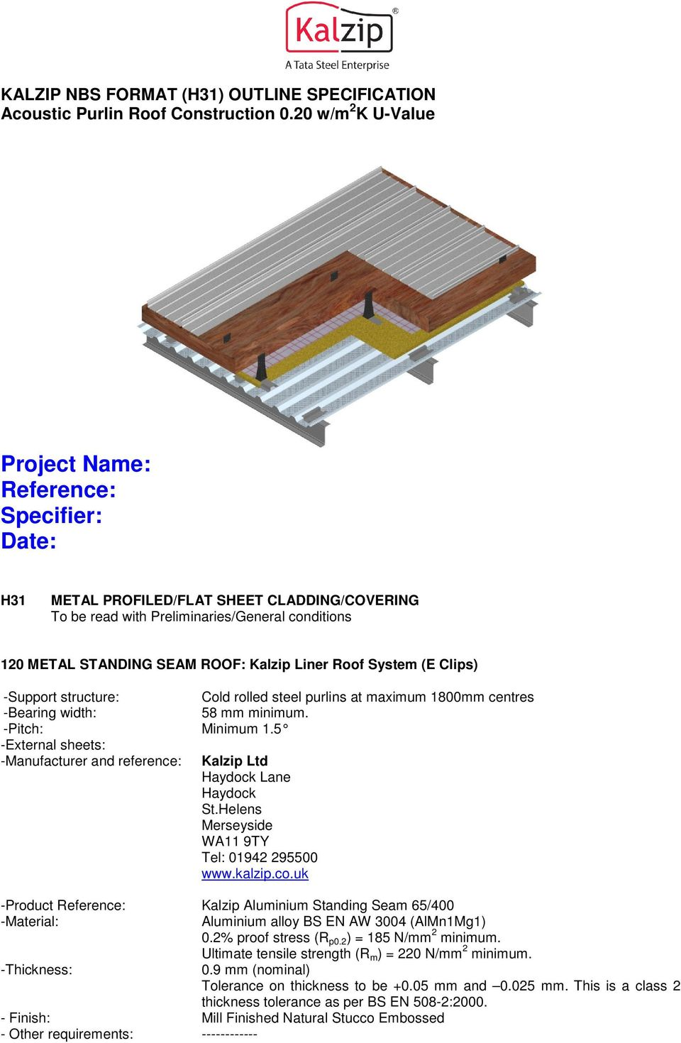 Project Name Reference Specifier Date Pdf
