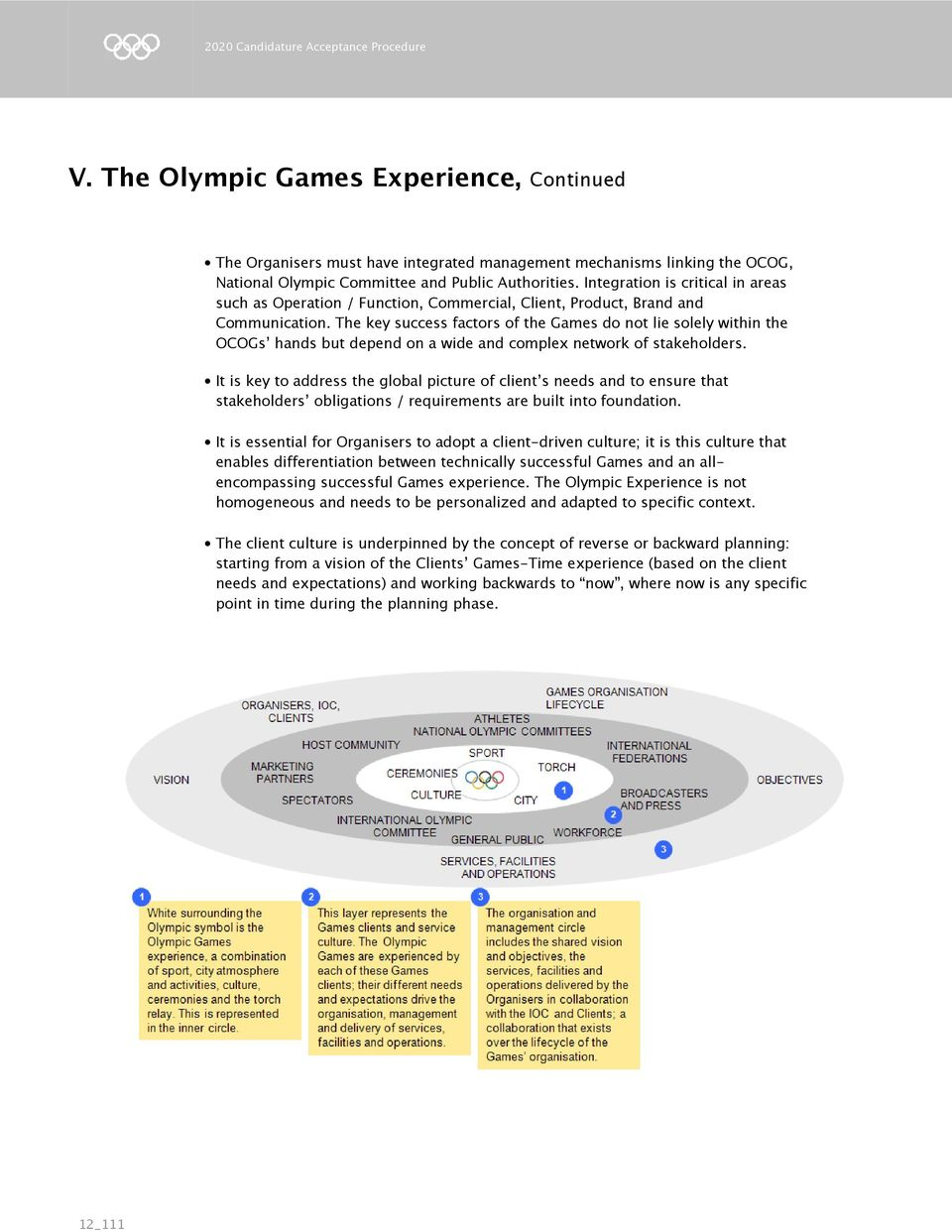 The key success factors of the Games do not lie solely within the OCOGs hands but depend on a wide and complex network of stakeholders.