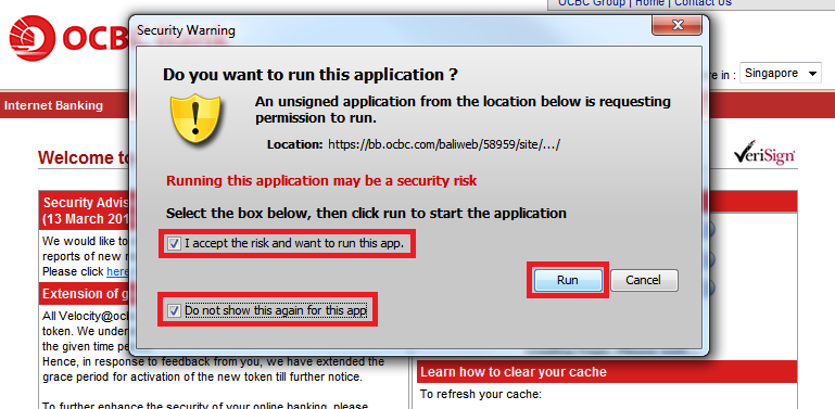 3. You will be prompted to run Java before entering login