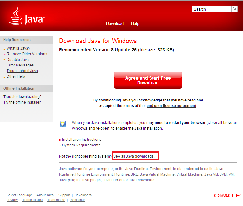 com > Click on Free Java Download 2.