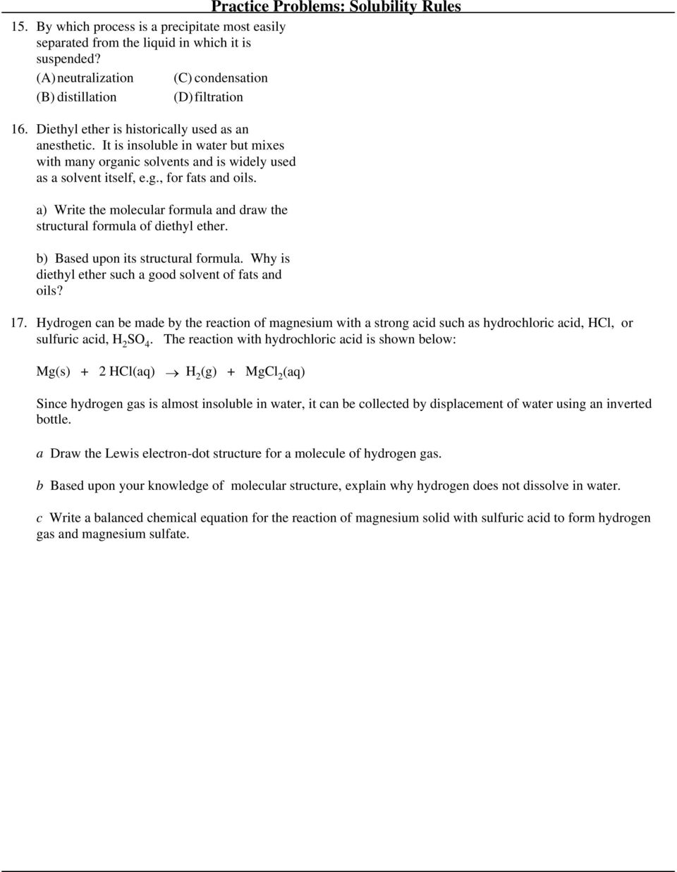 Practice Problems Solubility Rules Pdf