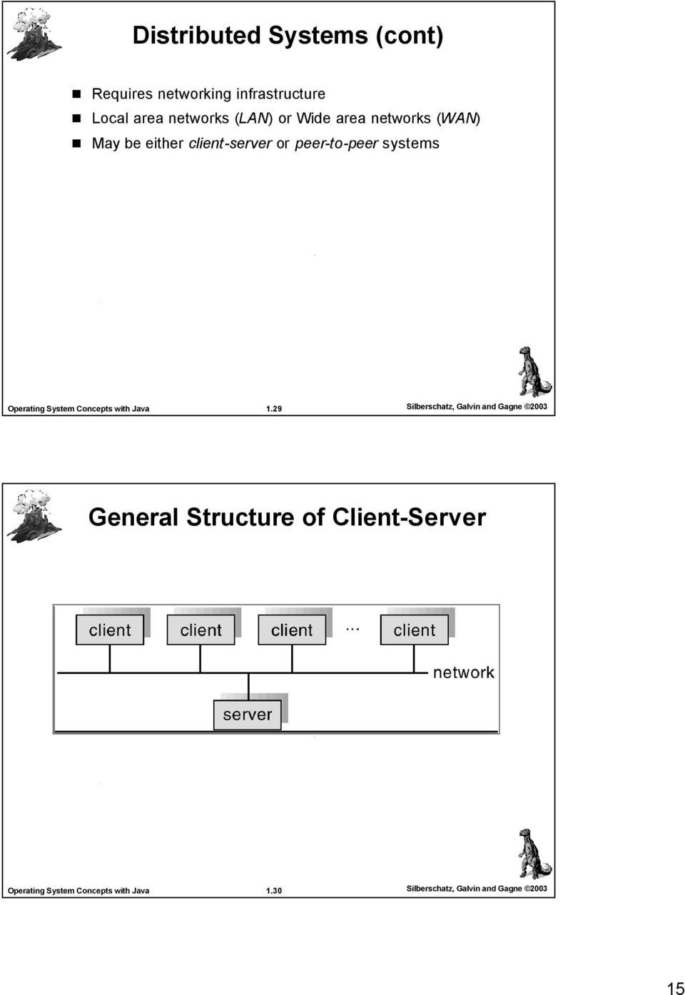 client-server or peer-to-peer systems 1.