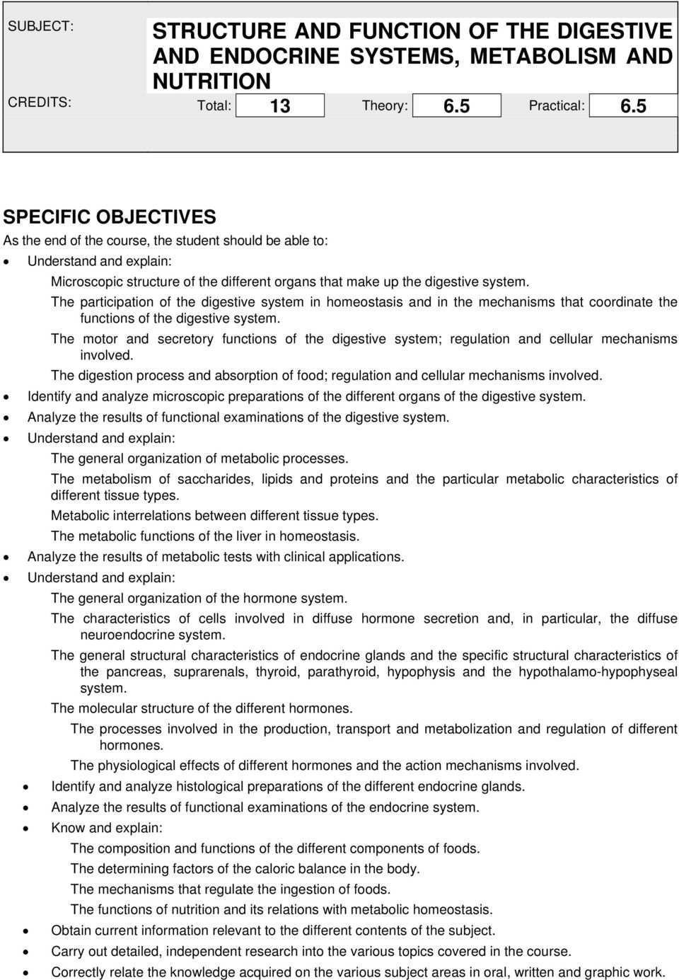 Structure And Function Of The Digestive And Endocrine Systems