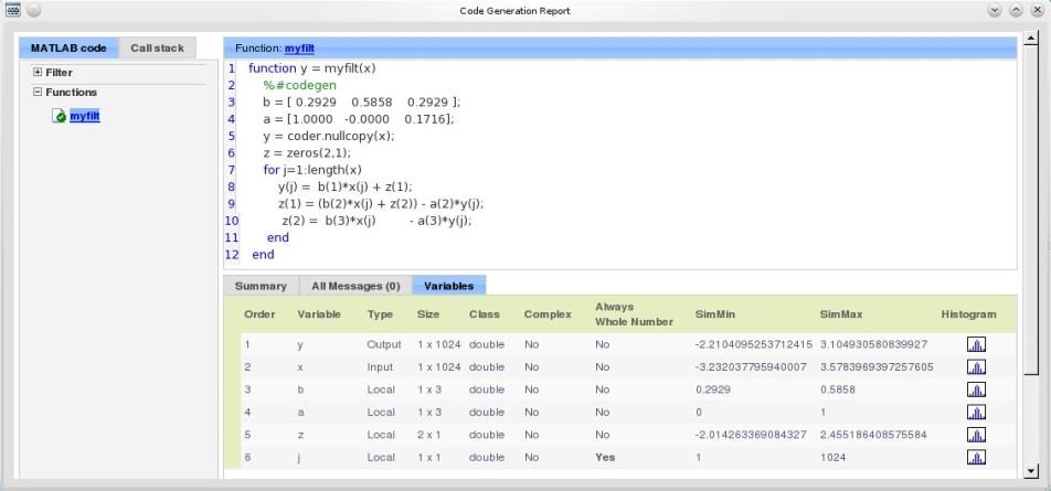 MATLAB Requires: Works on: Fixed-Point Designer MATLAB Coder MATLAB Code Instrumented Code