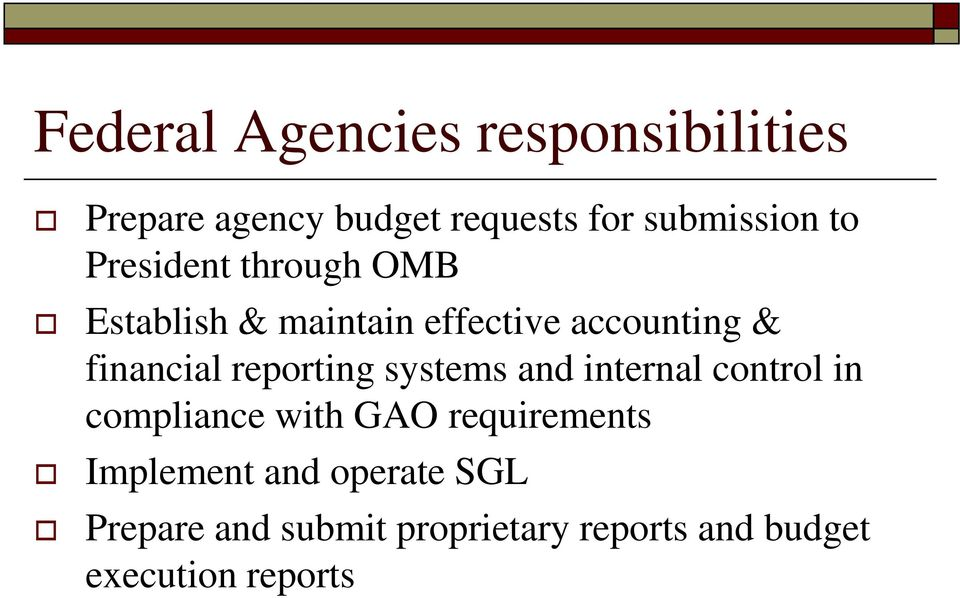 reporting systems and internal control in compliance with GAO requirements