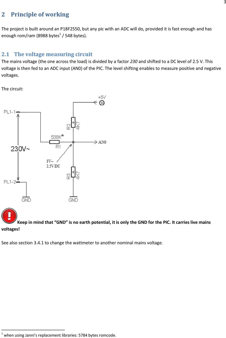 Ac Watt Meter Project Pdf 32w Hifi Audio Amplifier With Tda2050 Circuit Diagram The Keep In Mind That Gnd Is No Earth Potential It Only