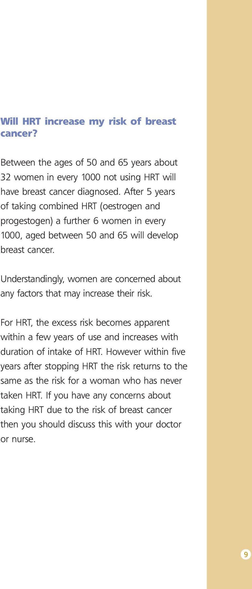 Understandingly, women are concerned about any factors that may increase their risk.