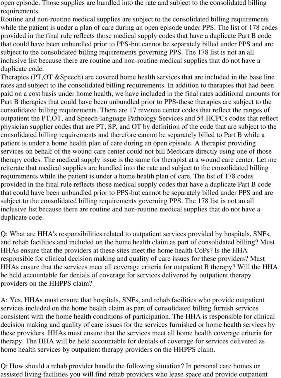 Home Health Pps Frequently Asked Questions Pdf