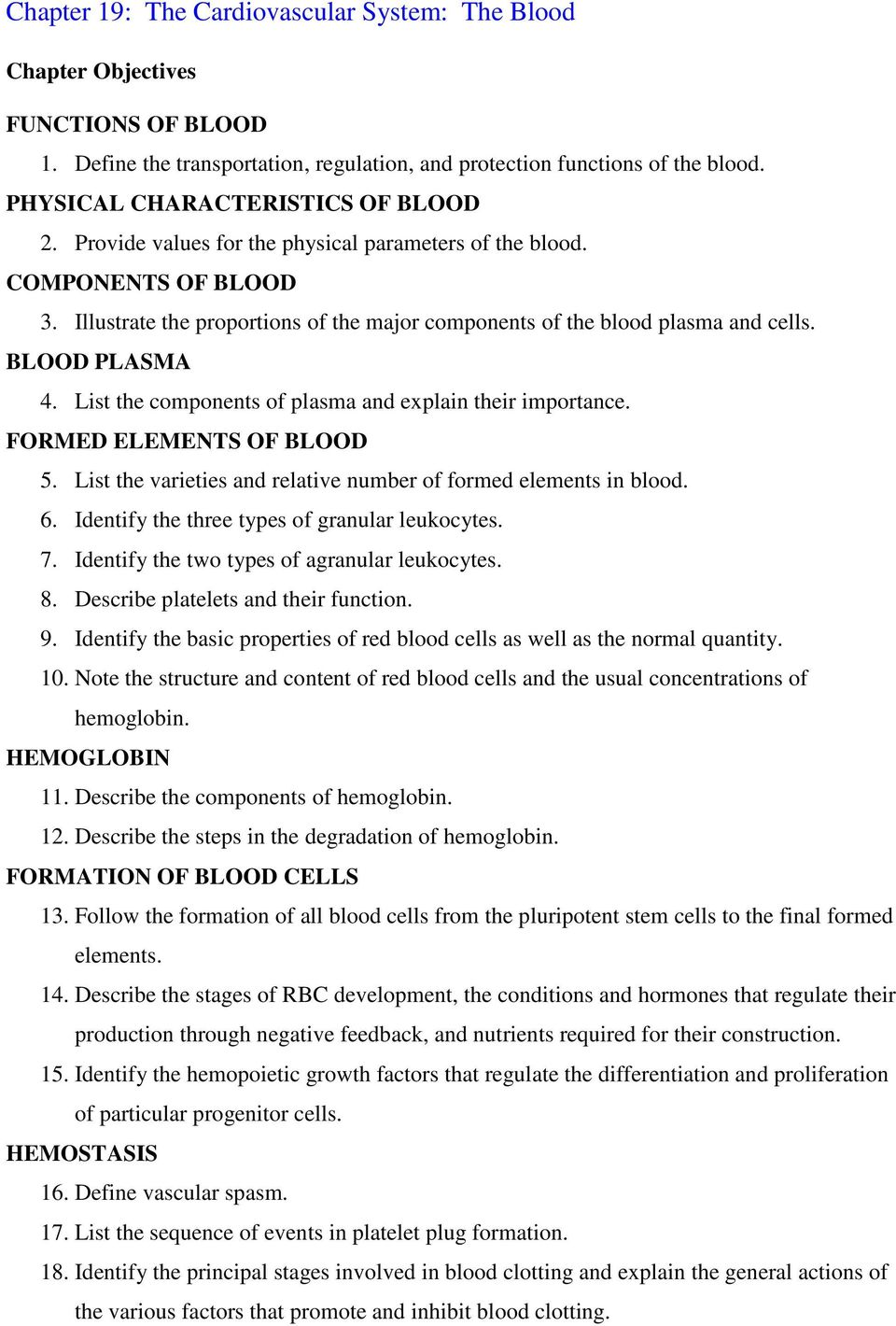 Chapter 19 The Cardiovascular System The Blood Pdf