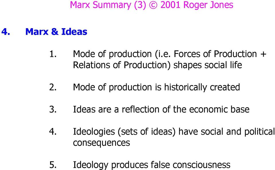 Mode of production is historically created 3.