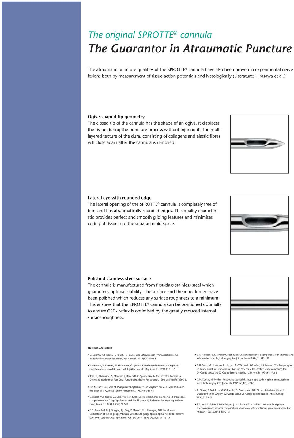 Lumbar Puncture with the SPROTTE Cannula For Safe Diagnostics - PDF