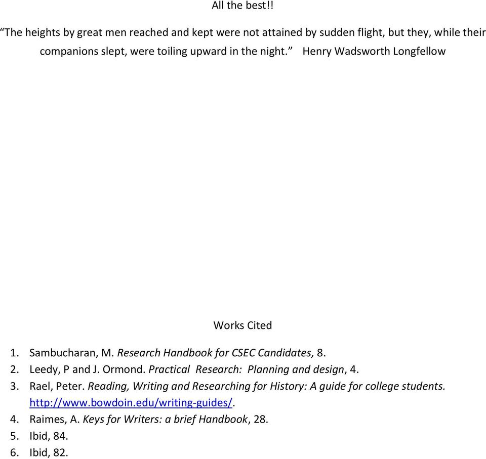 Student Guide For Completing Csec History Sba Pdf