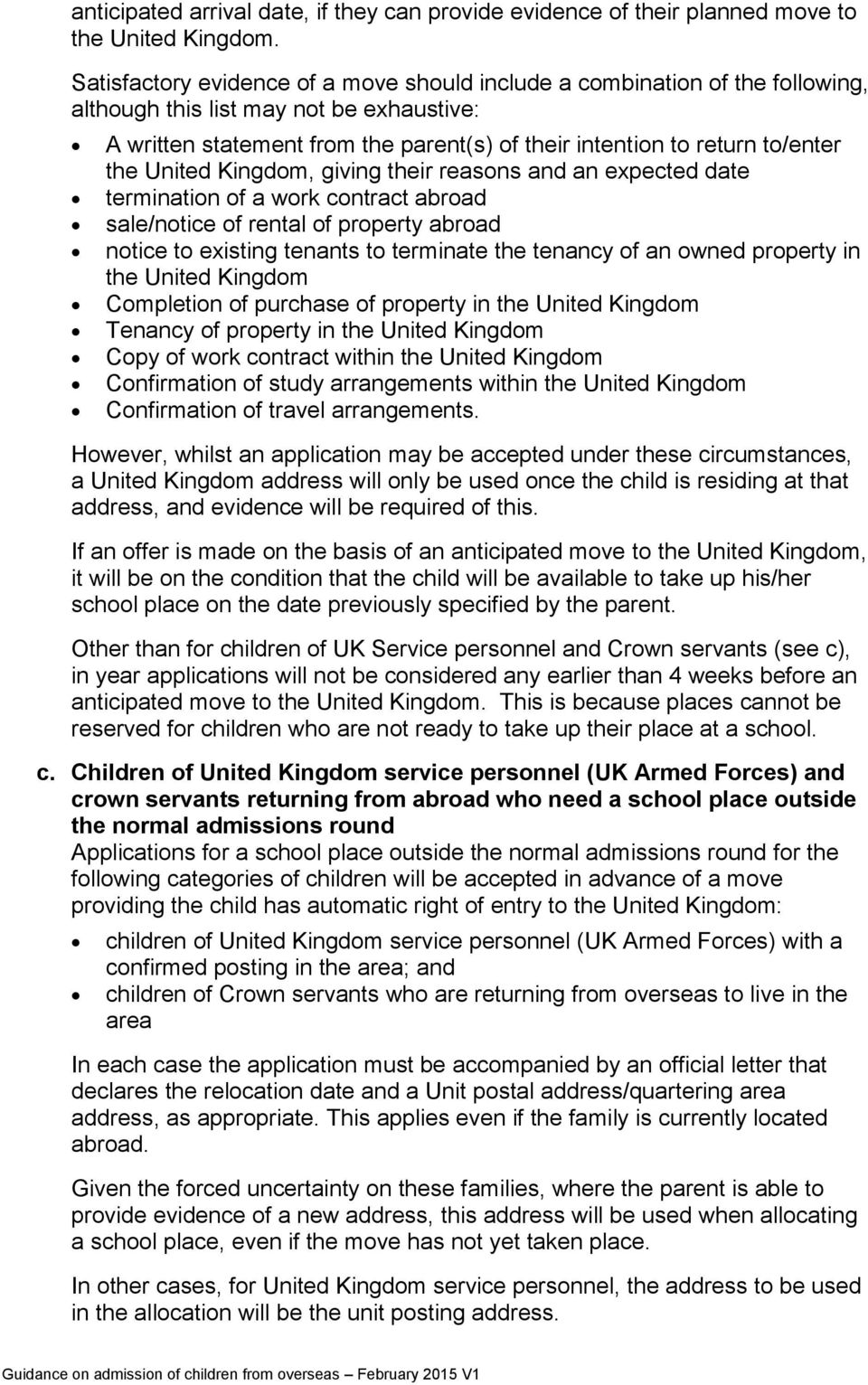 the United Kingdom, giving their reasons and an expected date termination of a work contract abroad sale/notice of rental of property abroad notice to existing tenants to terminate the tenancy of an