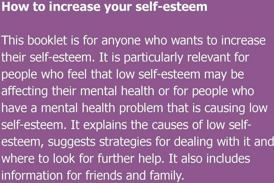 Causes Of Low Self Esteem In Men
