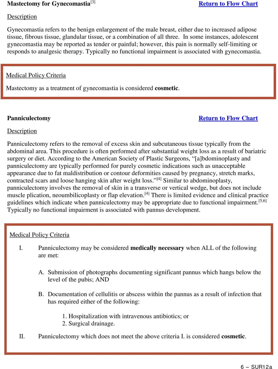 Typically no functional impairment is associated with gynecomastia. Mastectomy as a treatment of gynecomastia is considered cosmetic.