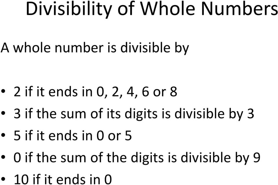 sum of its digits is divisible by 3 5 if it ends in 0