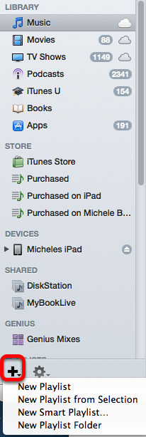 Create a playlist in itunes.