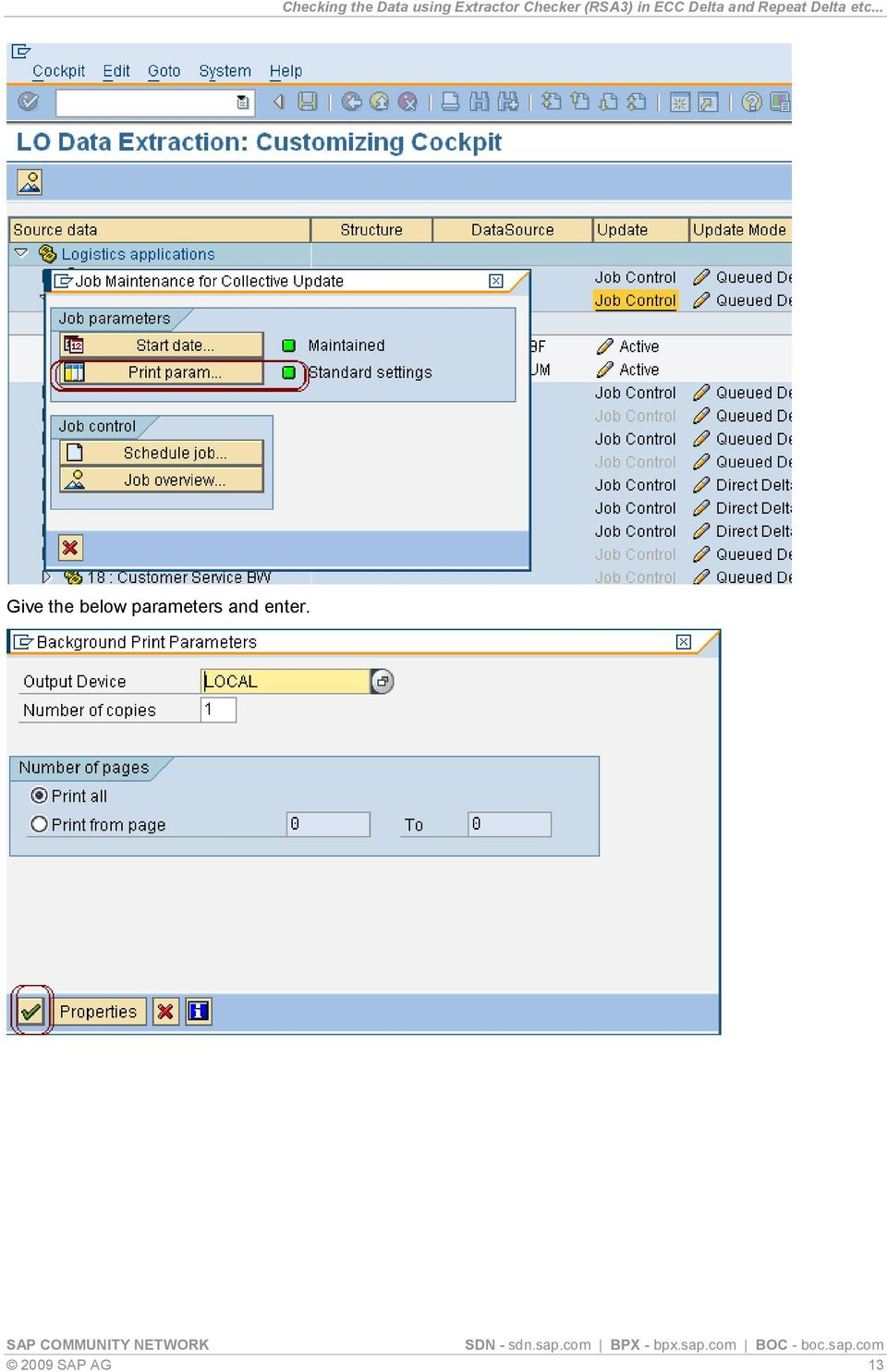 Checking the Data using Extractor Checker (RSA3) in ECC
