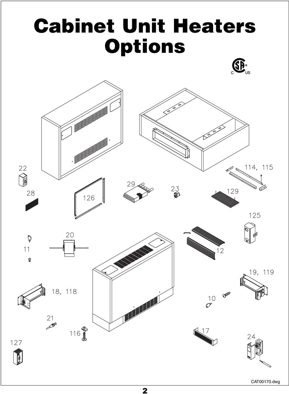 scvo-3  cabinet unit heater options booklet