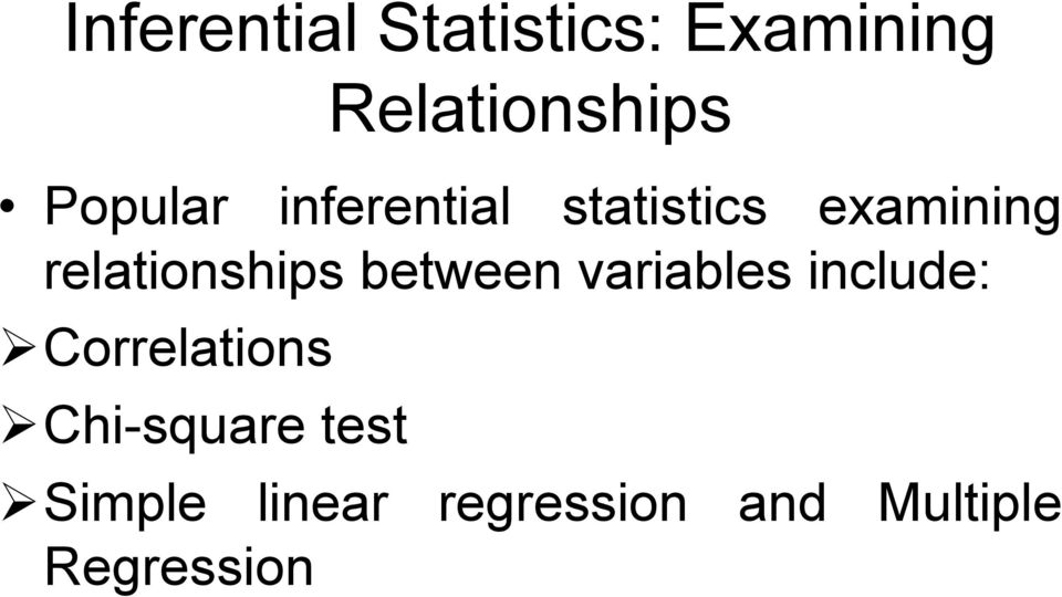 relationships between variables include: