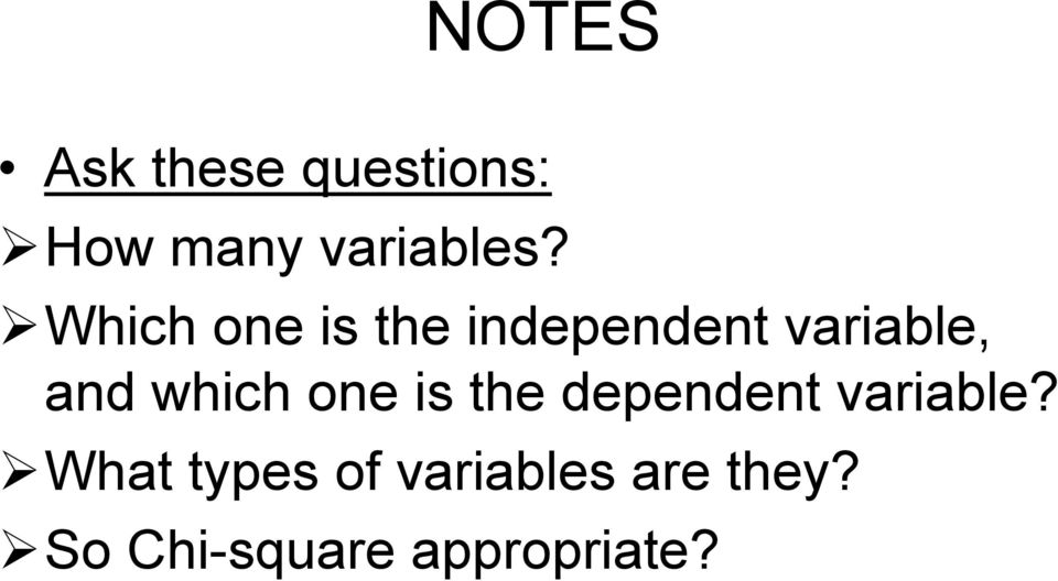 which one is the dependent variable?