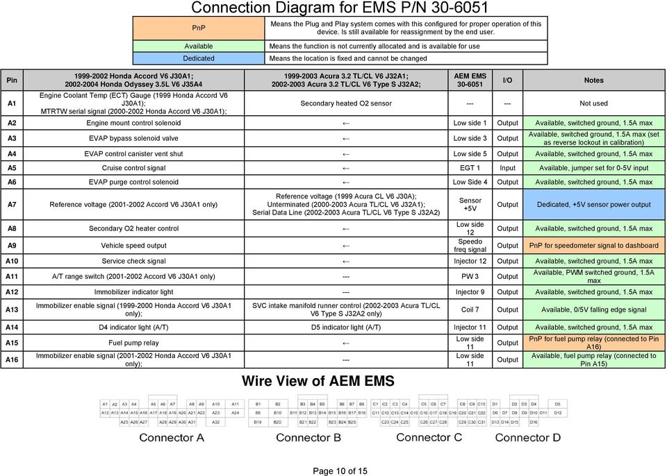 Installation Instructions For  Ems P  N  4 Cylinder Acura
