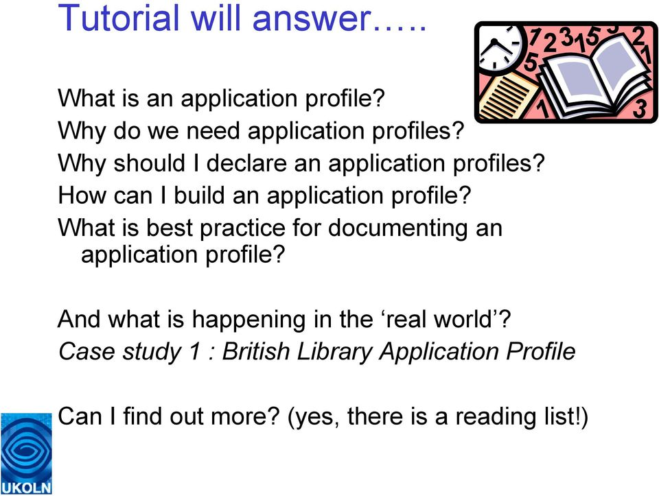 What is best practice for documenting an application profile?