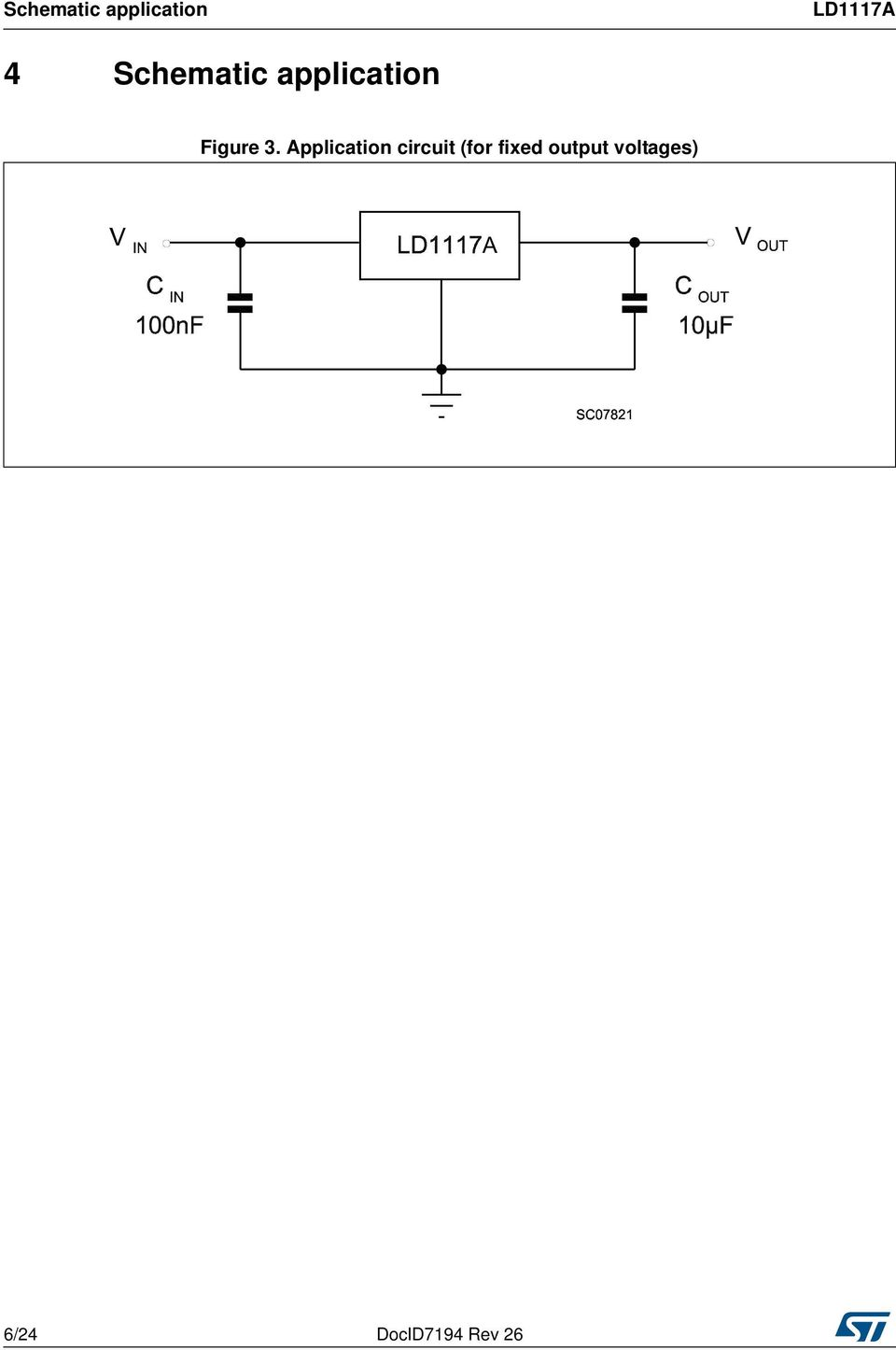 Application circuit (for fixed