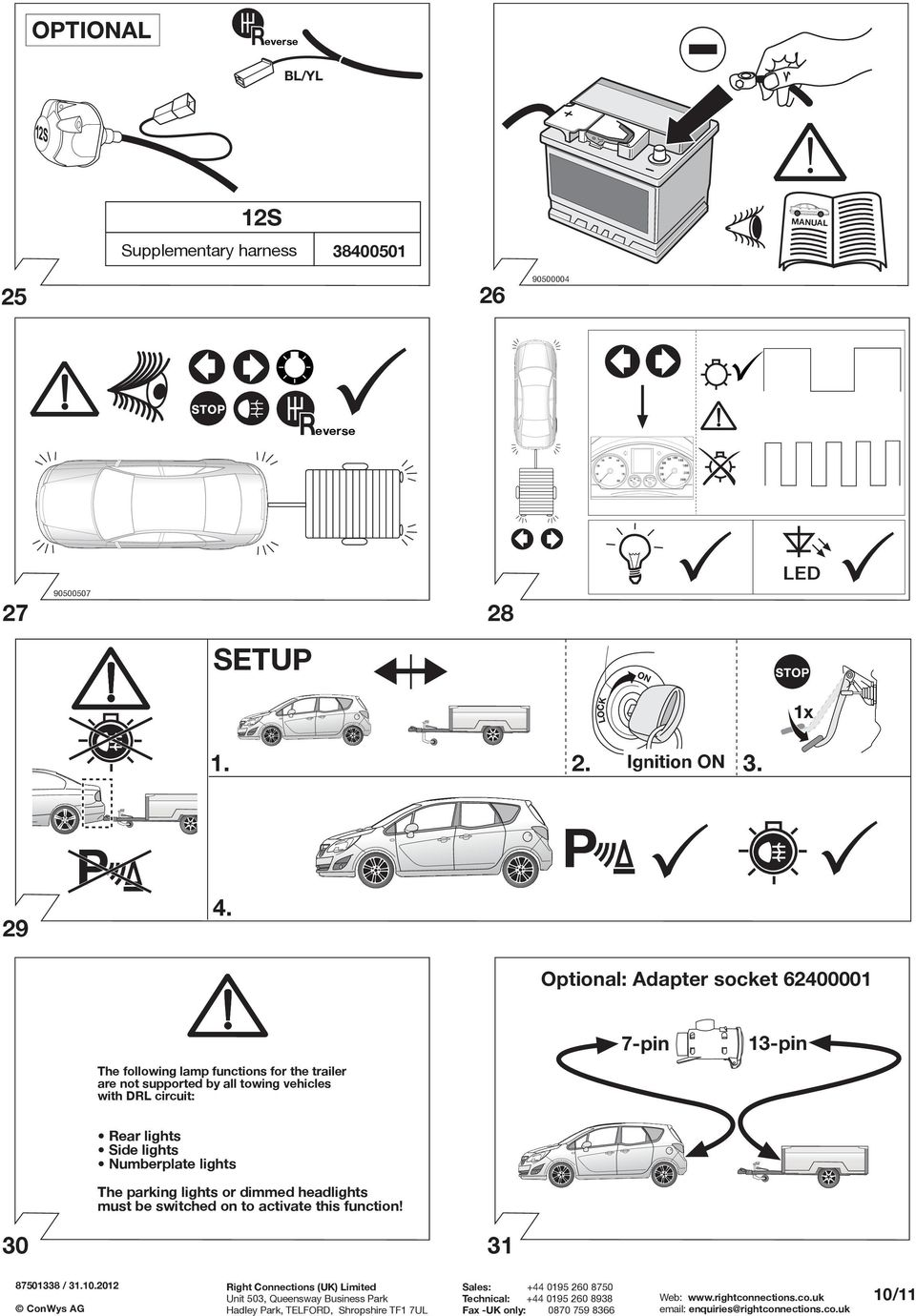 Fitting instructions part no rc vauxhall meriva b 0610 important optional adapter socket 62400001 the following lamp functions for the trailer are not supported by asfbconference2016 Gallery