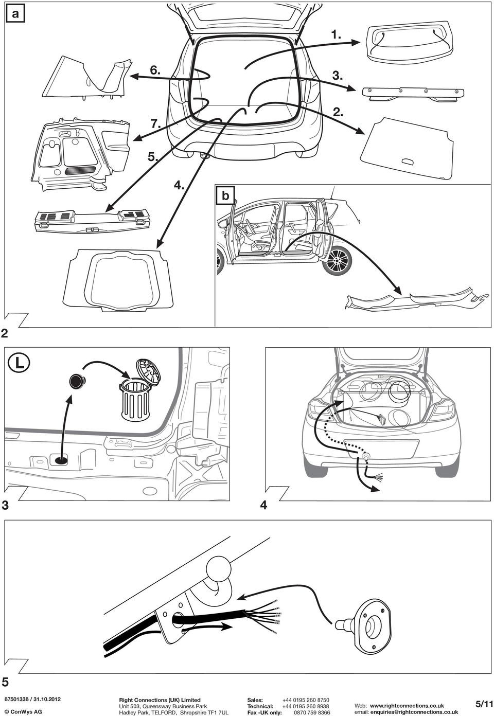 Fitting instructions part no rc vauxhall meriva b 0610 important 4 5 511 asfbconference2016 Gallery