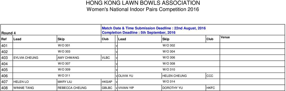 CHEUNG CCC 407 HELEN LO MARY LIU HKSAP v Match Date & Time Submission Deadline : 22nd August, 2016