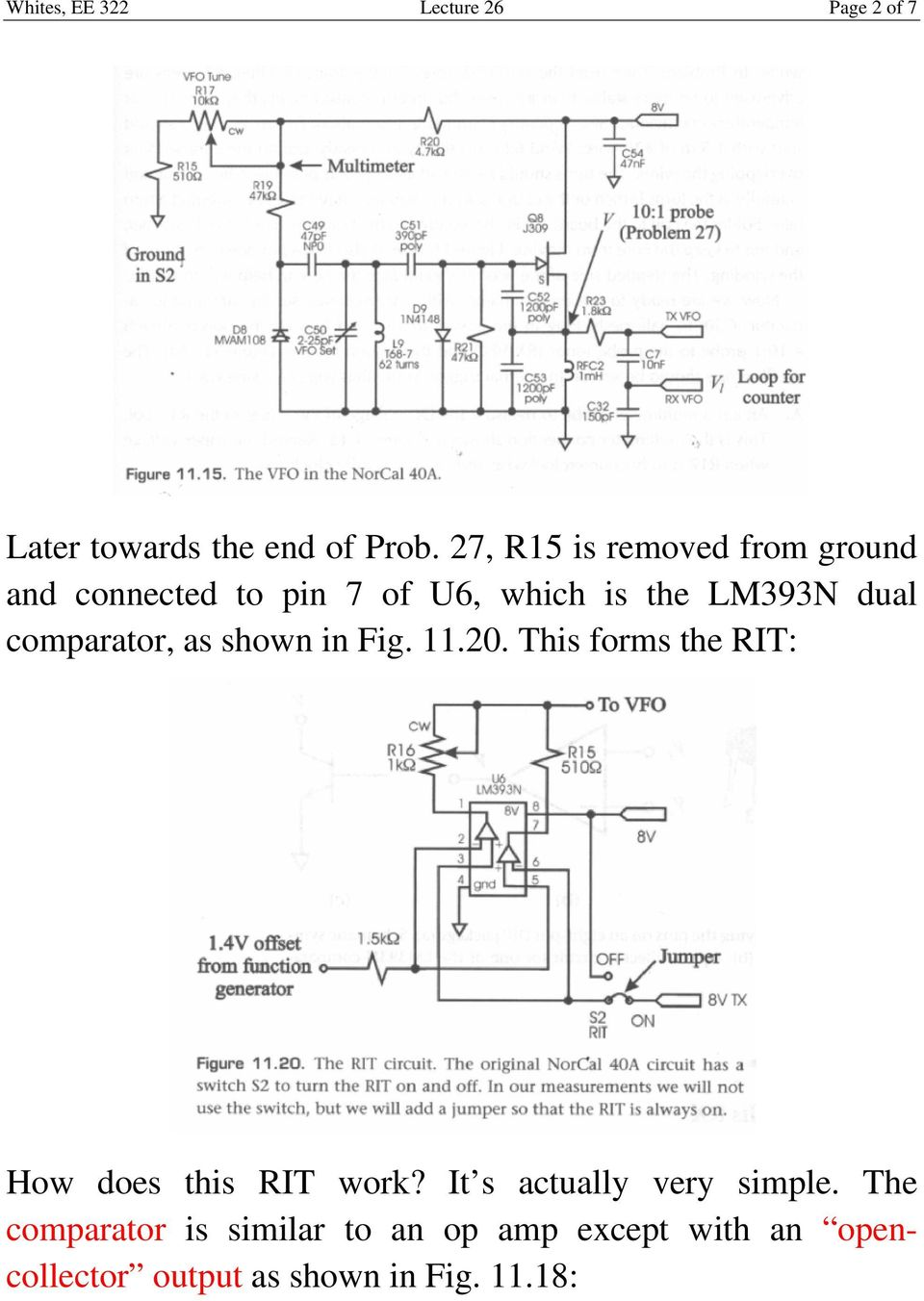 comparator, as shown in Fig. 11.20. This forms the RIT: How does this RIT work?
