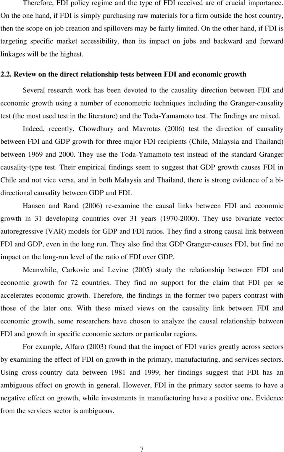 direct impact of fdi on poverty Which case a one-for-one relationship between (fdi-caused) growth and poverty reduction would not hold conversely, other factors behind growth such as primary.