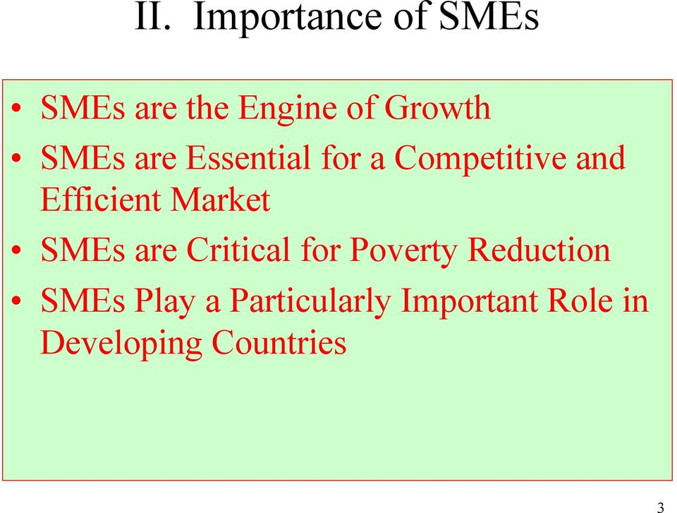 Market SMEs are Critical for Poverty Reduction SMEs